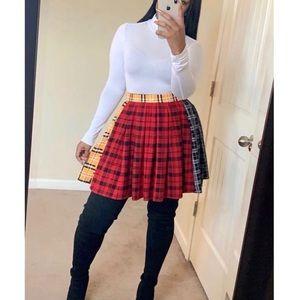 Dresses & Skirts - Plaid Pleated Skirt
